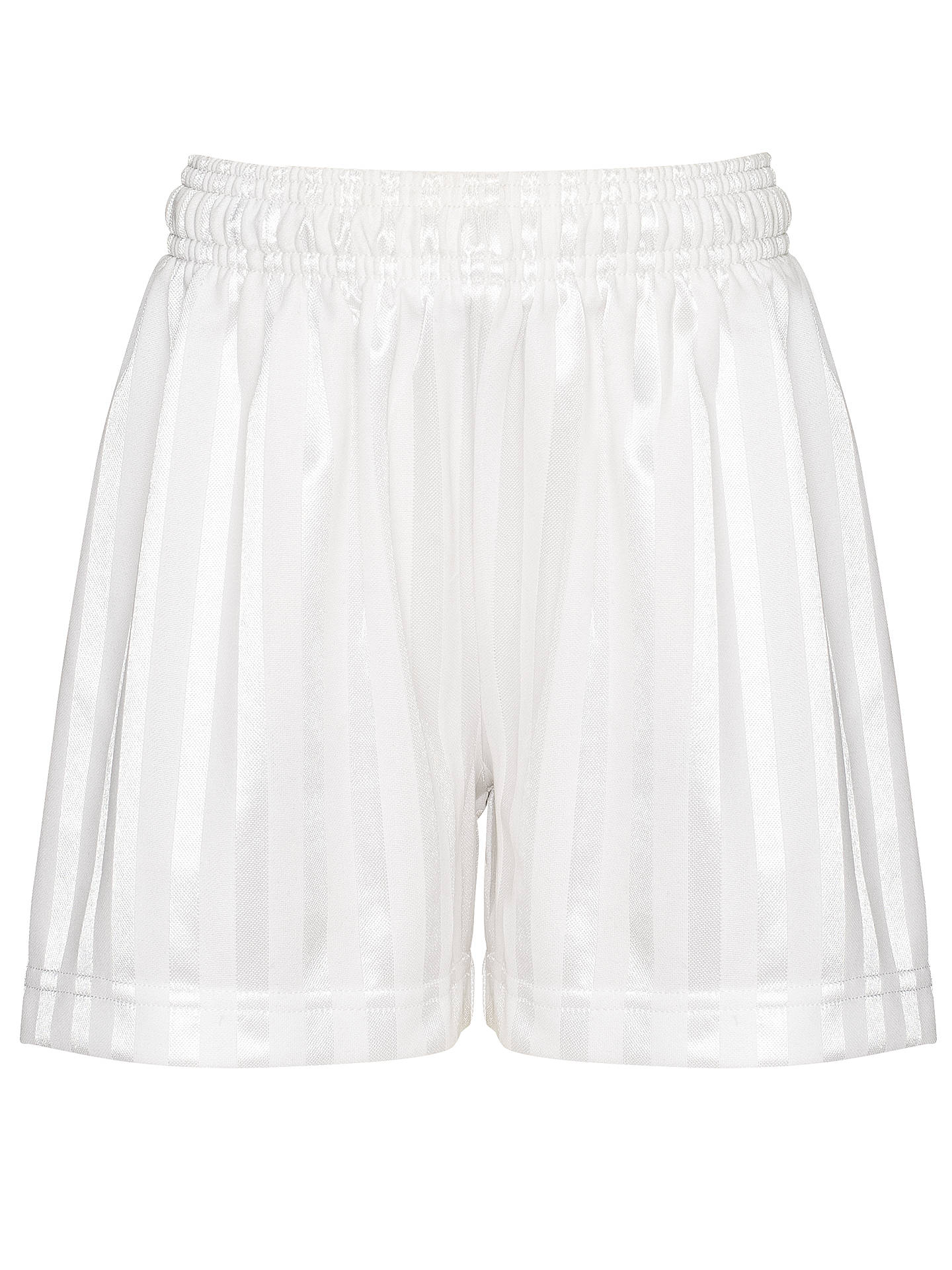 Buy John Lewis & Partners Football Shorts, White, 3-4 years Online at johnlewis.com