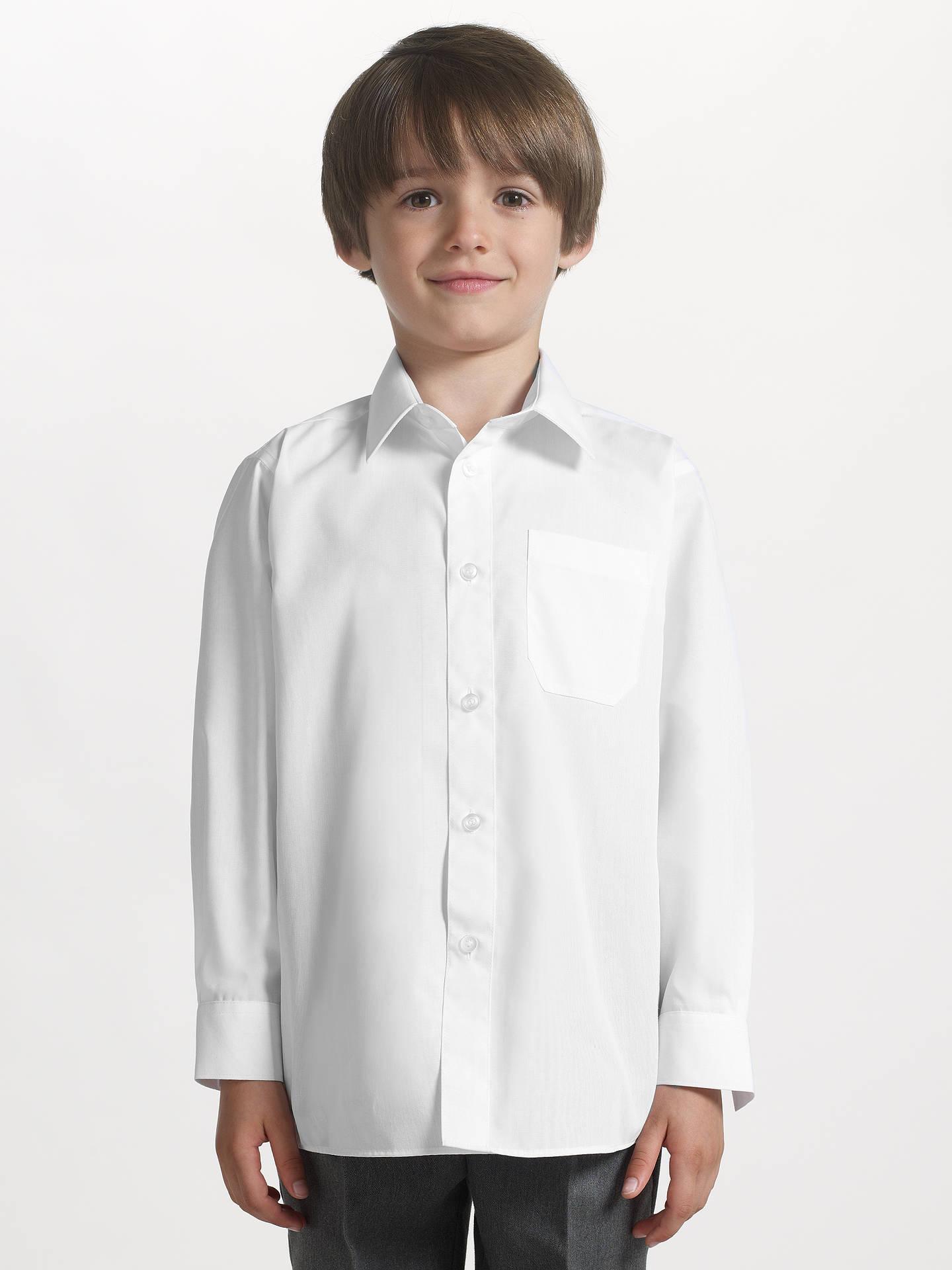 John Lewis Partners Boys Long Sleeve Non Iron School Shirt Pack