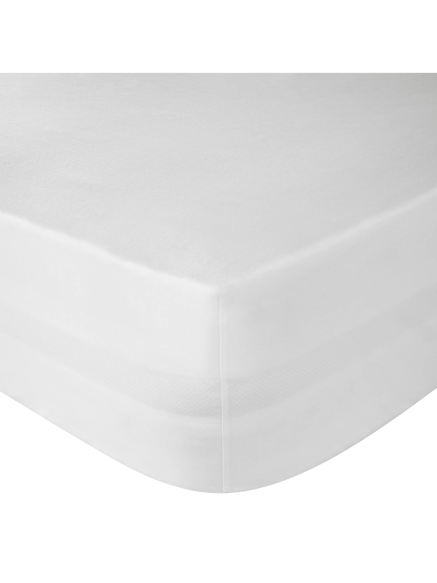 BuyJohn Lewis & Partners The Basics Combed Polycotton Fitted Sheet, White, Single Online at johnlewis.com