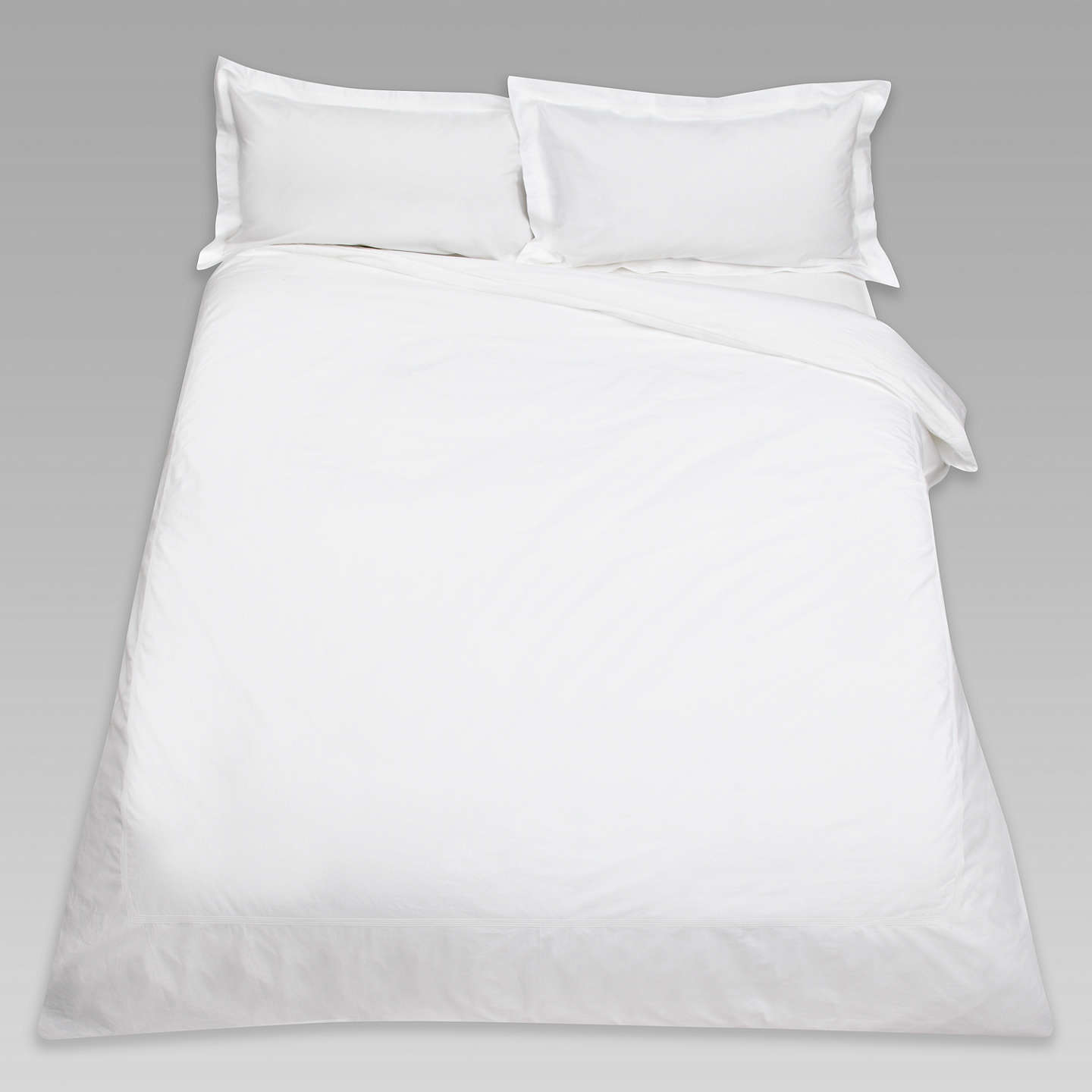 BuyPeter Reed Egyptian Cotton 4 Row Cord Oxford Pillowcase, White Online at johnlewis.com