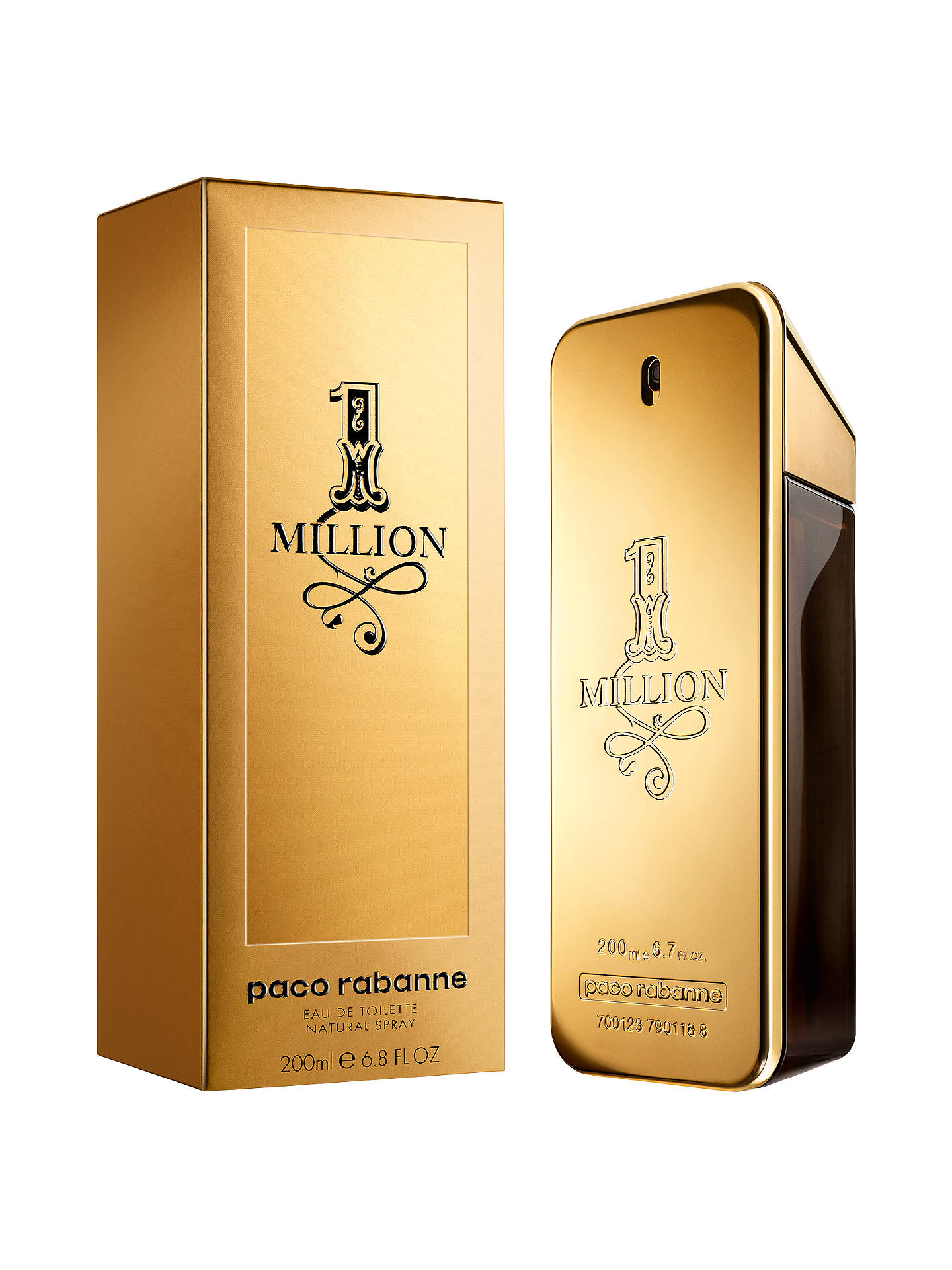 BuyPaco Rabanne 1 Million Eau De Toilette, 200ml Online at johnlewis.com