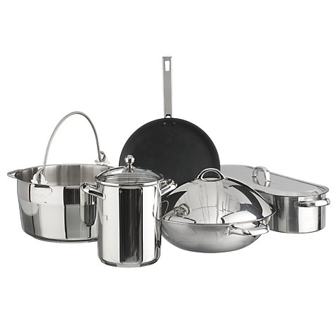 Buy John Lewis Speciality Stainless Steel Non Stick 28cm Pancake / Crepe Pan Online at johnlewis.com
