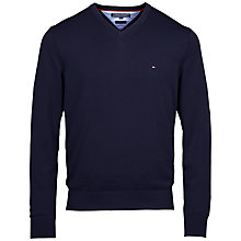 Buy Tommy Hilfiger Pacific V-Neck Jumper, Navy Online at johnlewis.com