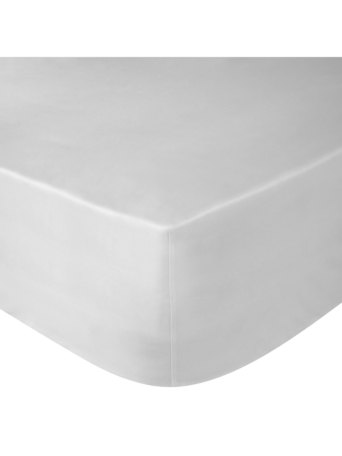 BuyPeter Reed Egyptian Cotton 4 Row Cord Fitted Sheet, White, Single Online at johnlewis.com
