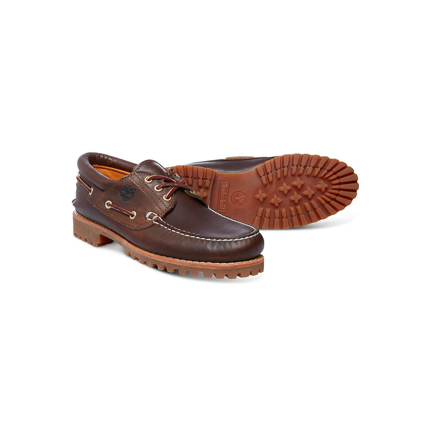 BuyTimberland Handsewn Boat Shoes, Brown, 7 Online at johnlewis.com
