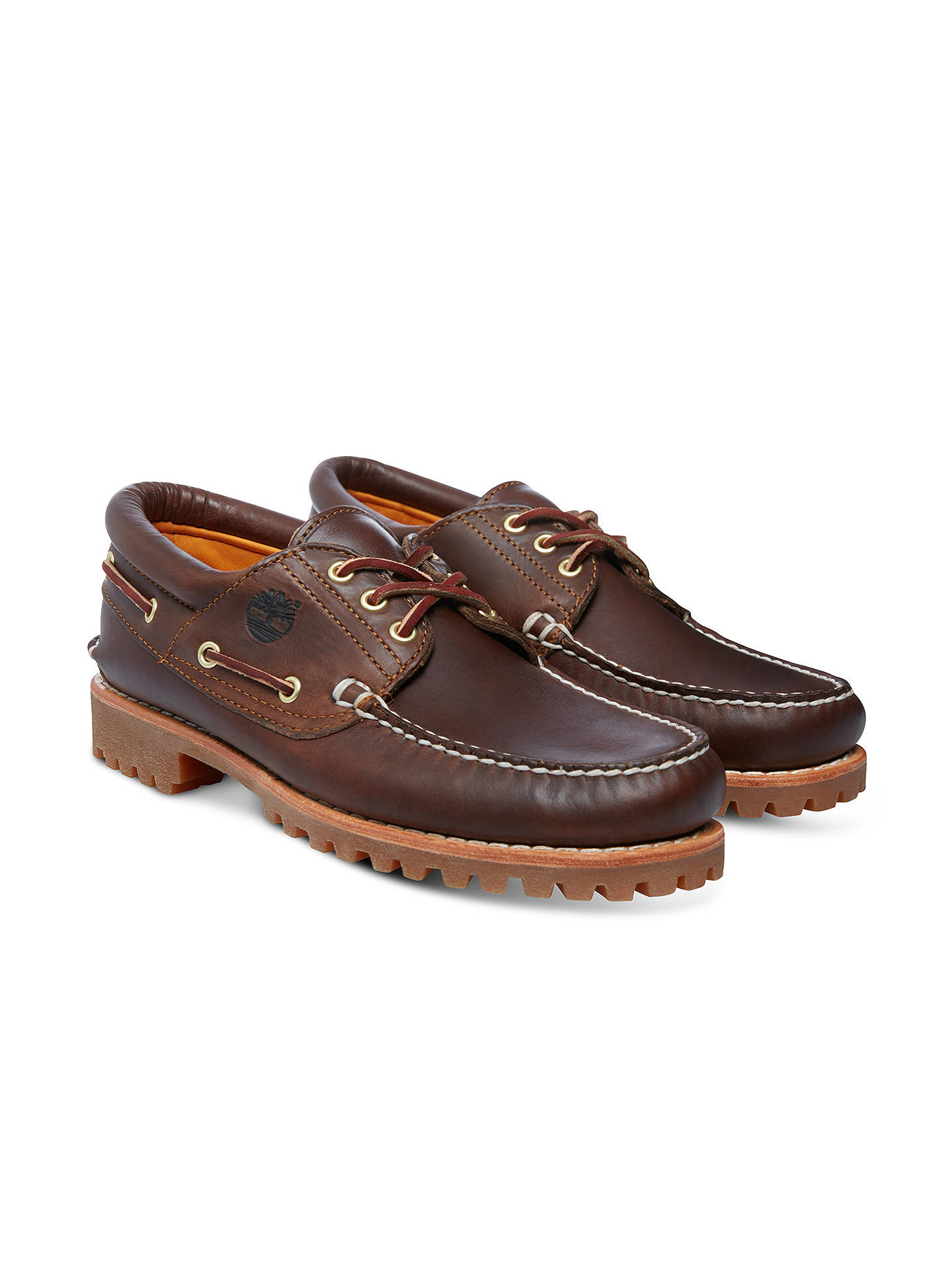 ... BuyTimberland Handsewn Boat Shoes, Brown, 7 Online at johnlewis.com