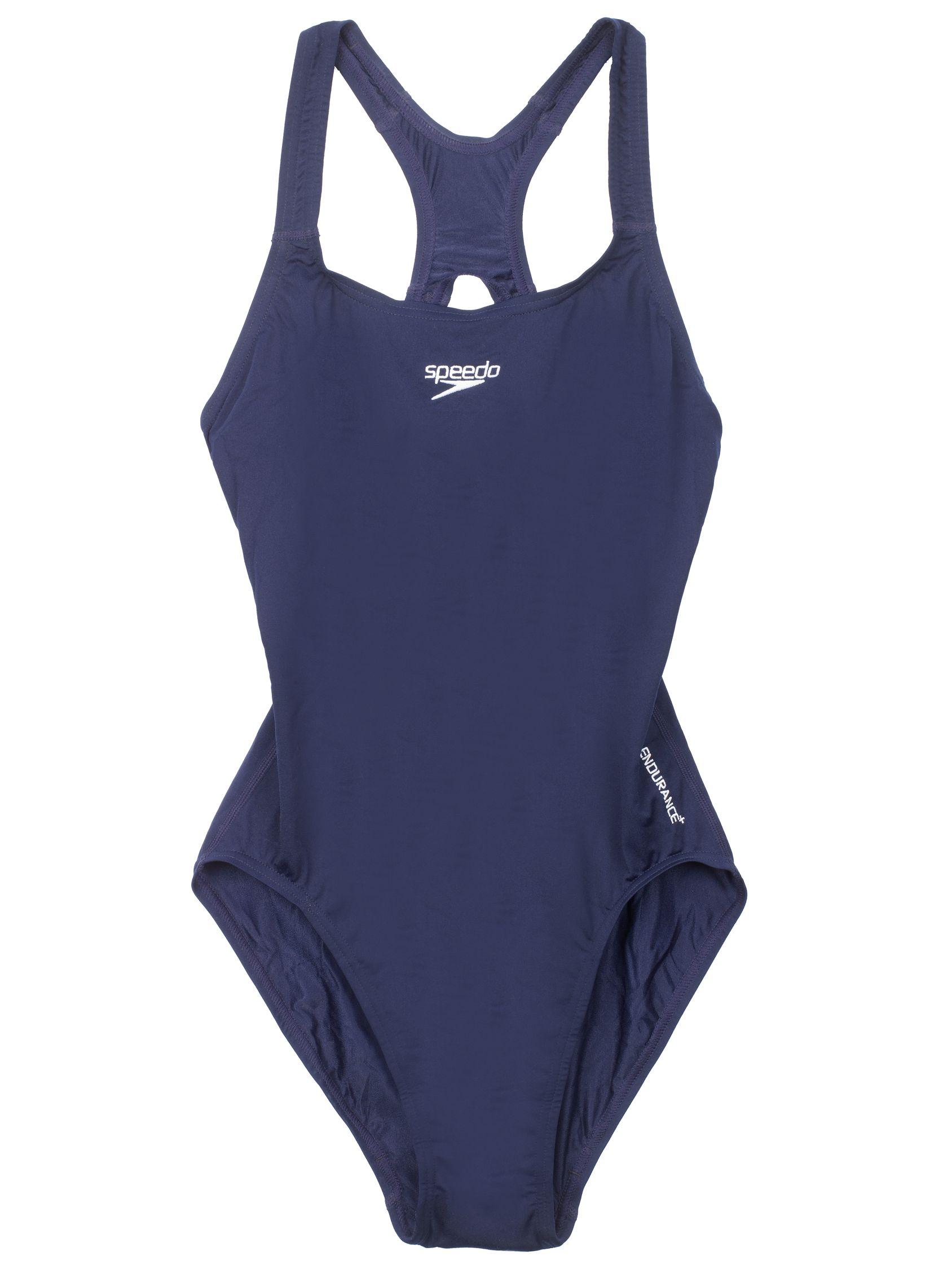 Speedo Speedo Girls' Medalist Swimsuit, Navy