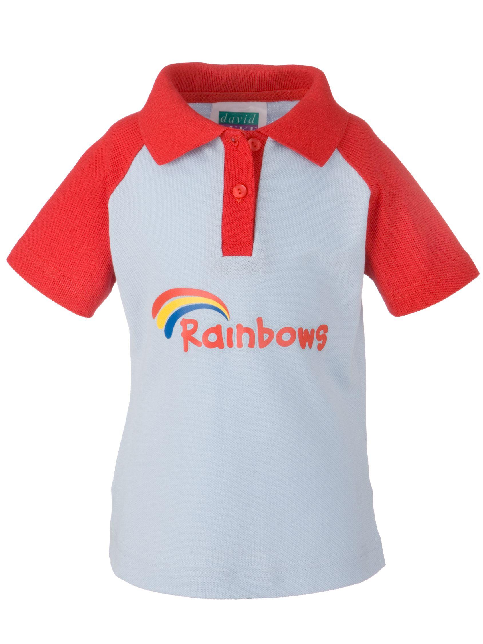 Rainbows Rainbows Uniform Short Sleeve Polo Shirt, Red