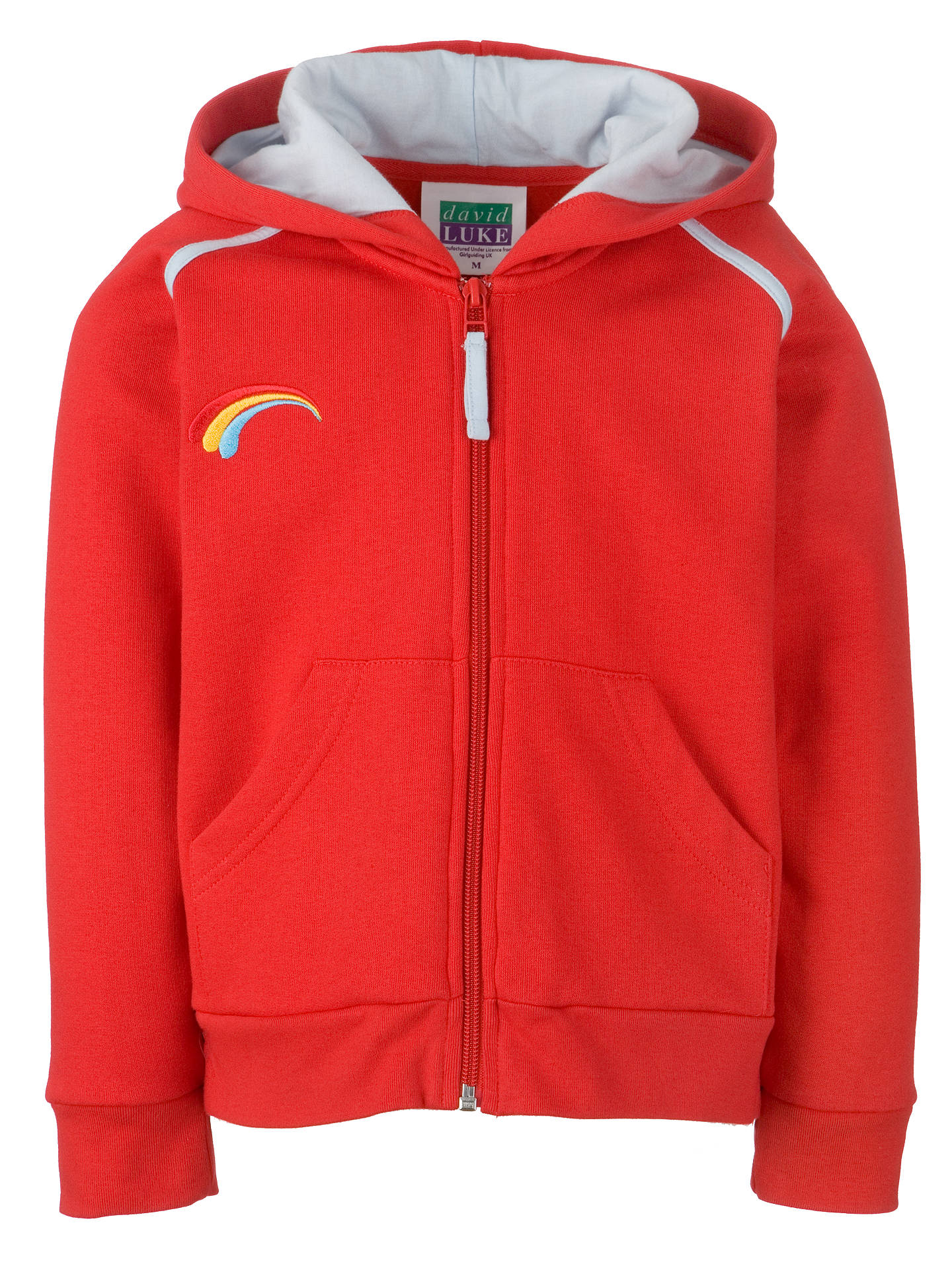 be045a368 Buy Rainbows Uniform Hooded Zip Top, Red, Small Online at johnlewis.com