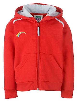 Rainbows Uniform Hooded Zip Top, Red