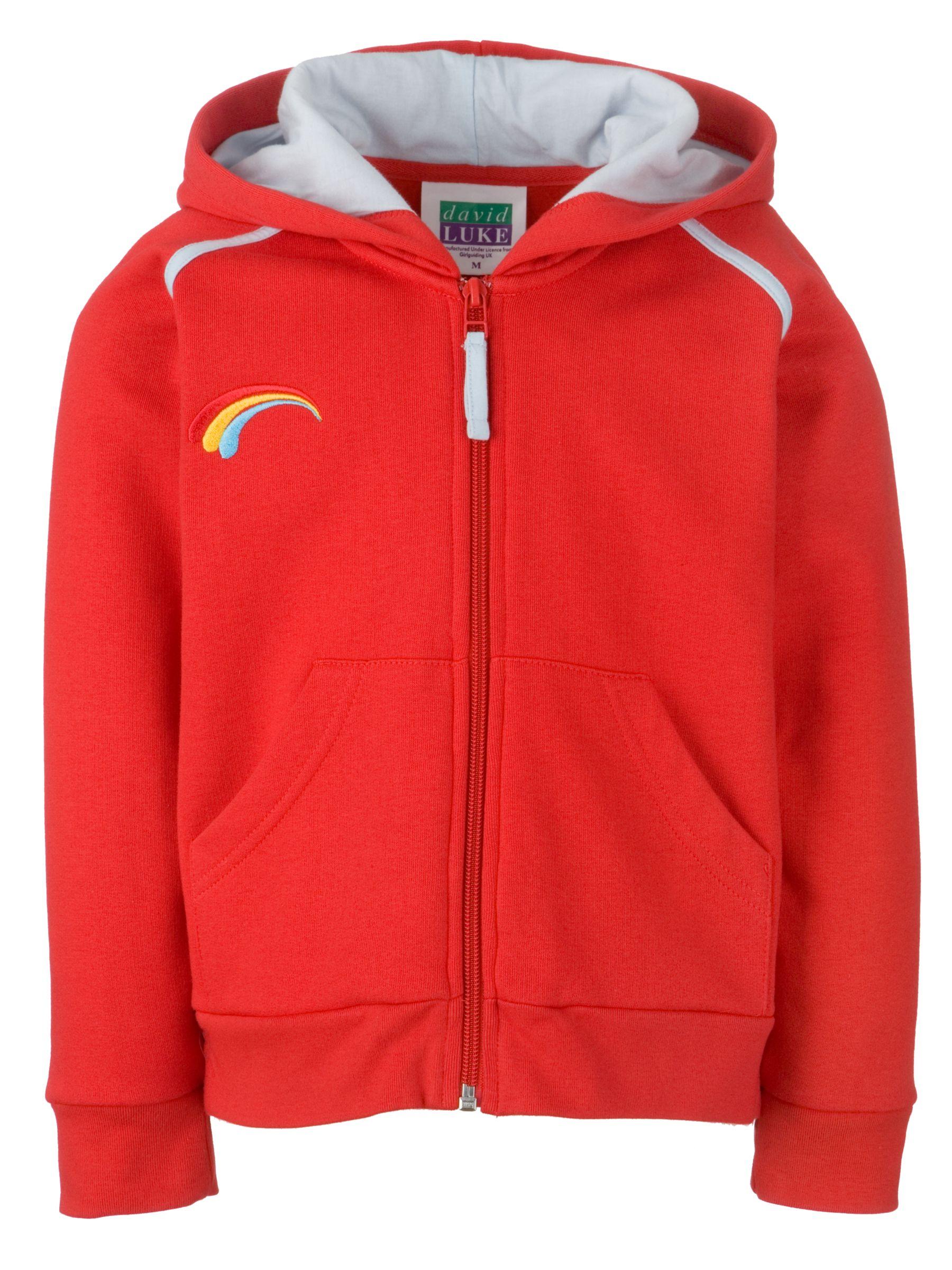Rainbows Rainbows Uniform Hooded Zip Top, Red