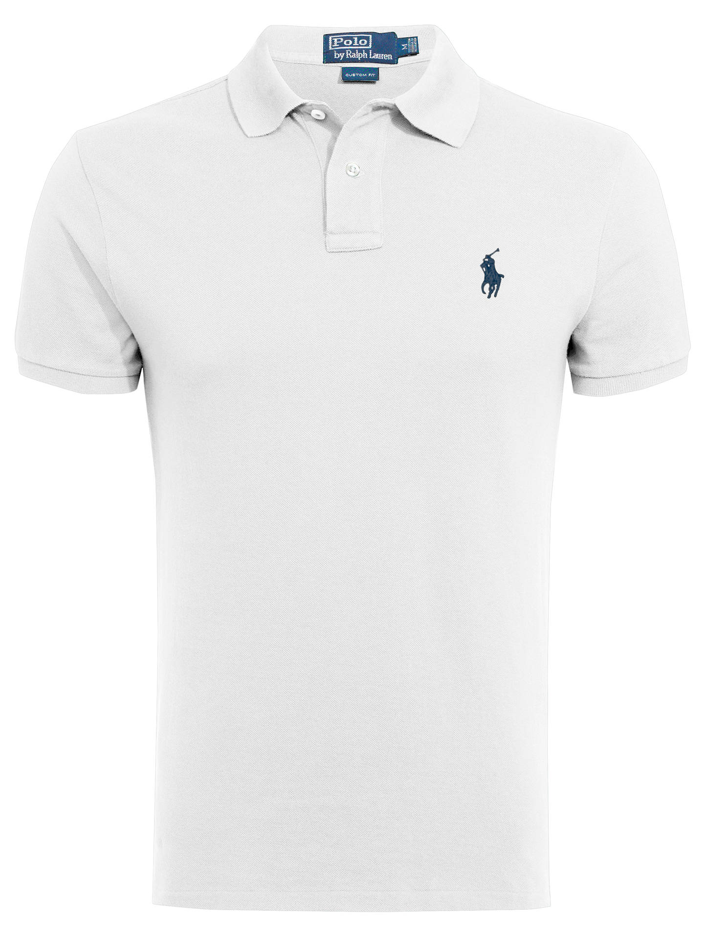 d117d391 Buy Polo Ralph Lauren Short Sleeve Slim Fit Polo Shirt, Polo White, S Online