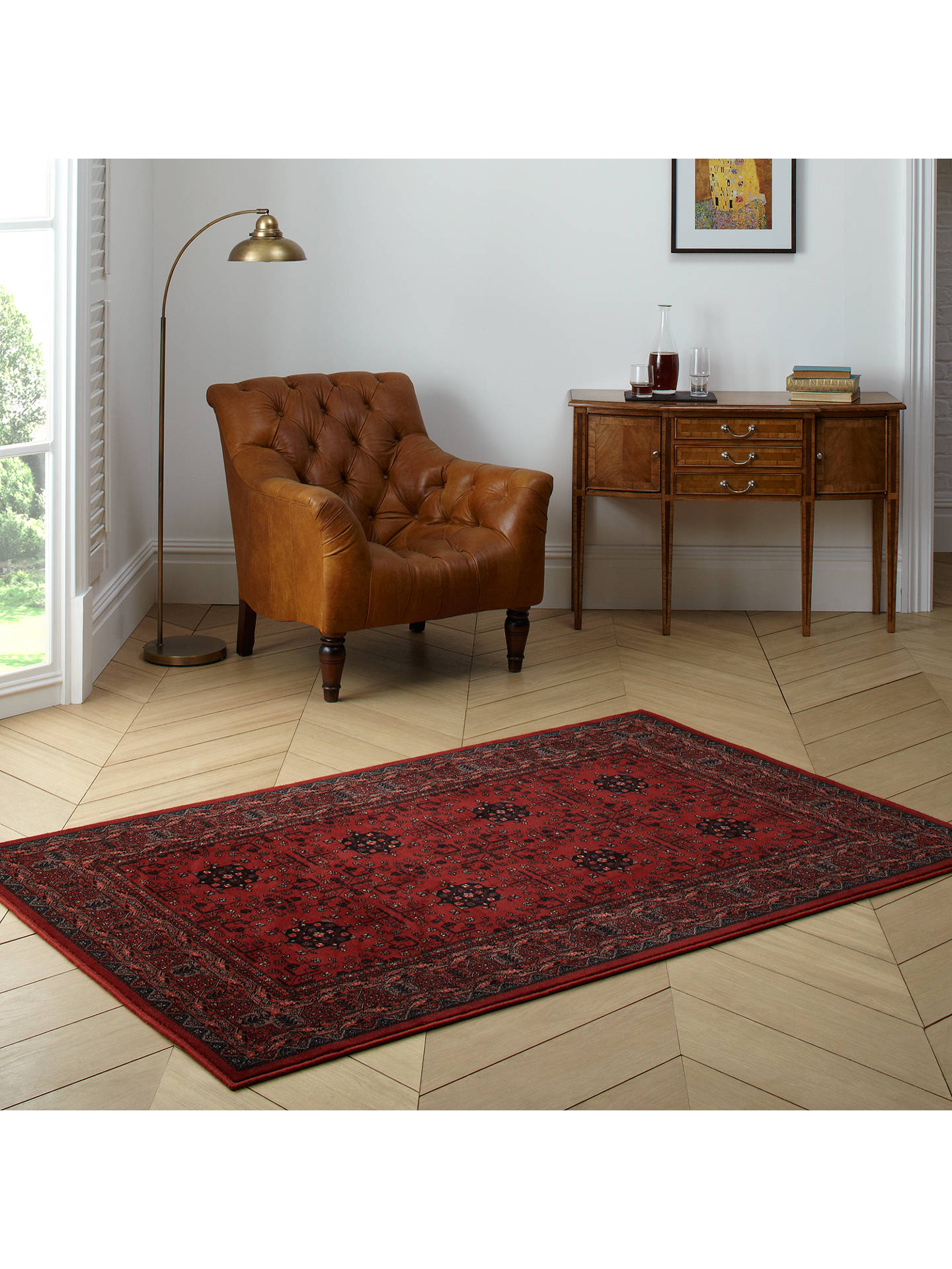 John Lewis Partners Royal Heritage Herati Rugs Red At