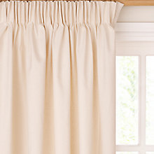 Buy John Lewis The Basics Plain Cotton Unlined Pencil Pleat Curtains, Natural Online at johnlewis.com