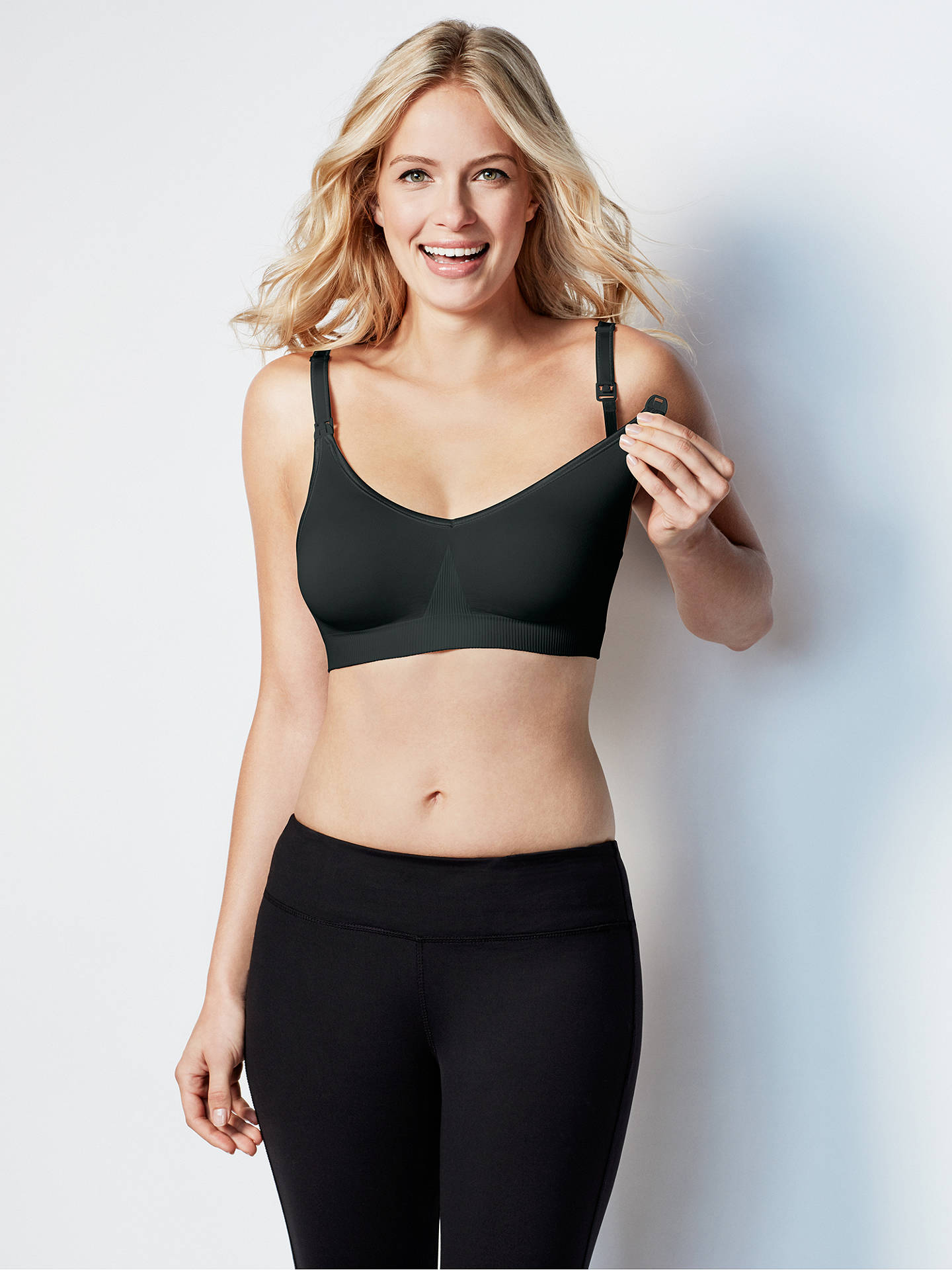 BuyBravado Body Silk Seamless Nursing Bra, Black, S Online at johnlewis.com