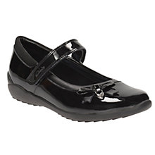 Buy Clarks Children's Gloform Ting Fever Patent School Shoes, Black Online at johnlewis.com