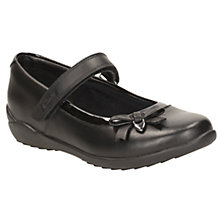 Buy Clarks Children's Gloform Ting Fever School Shoes, Black Online at johnlewis.com
