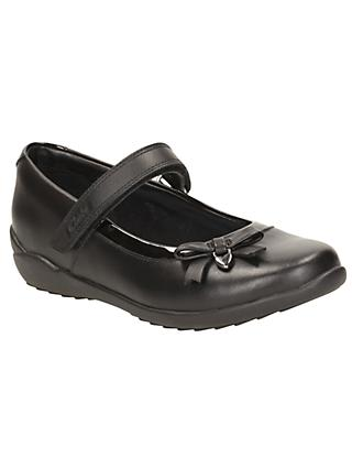 Clarks Children's Gloform Ting Fever School Shoes, Black