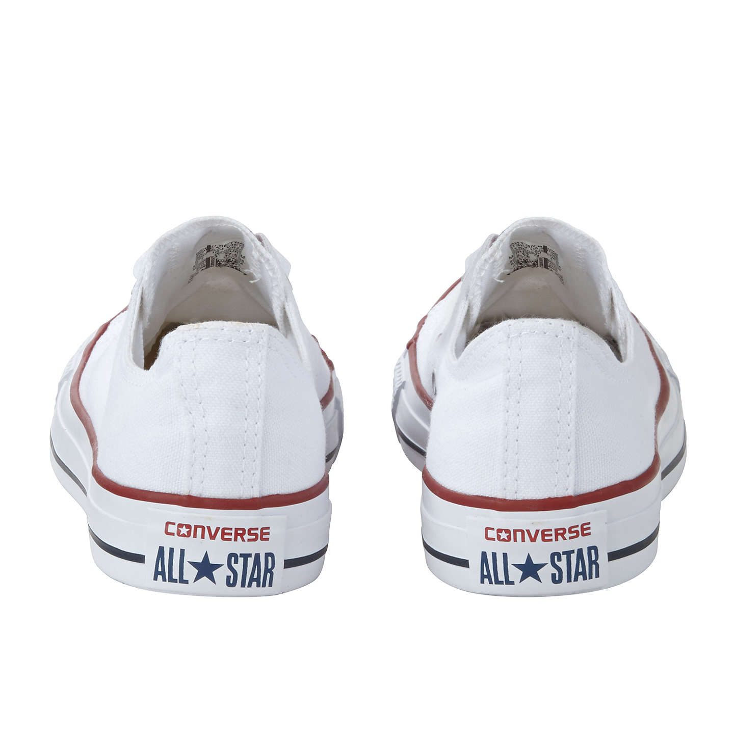 BuyConverse Chuck Taylor All Star Canvas Ox Low-Top Trainers, White, 8 Online at johnlewis.com