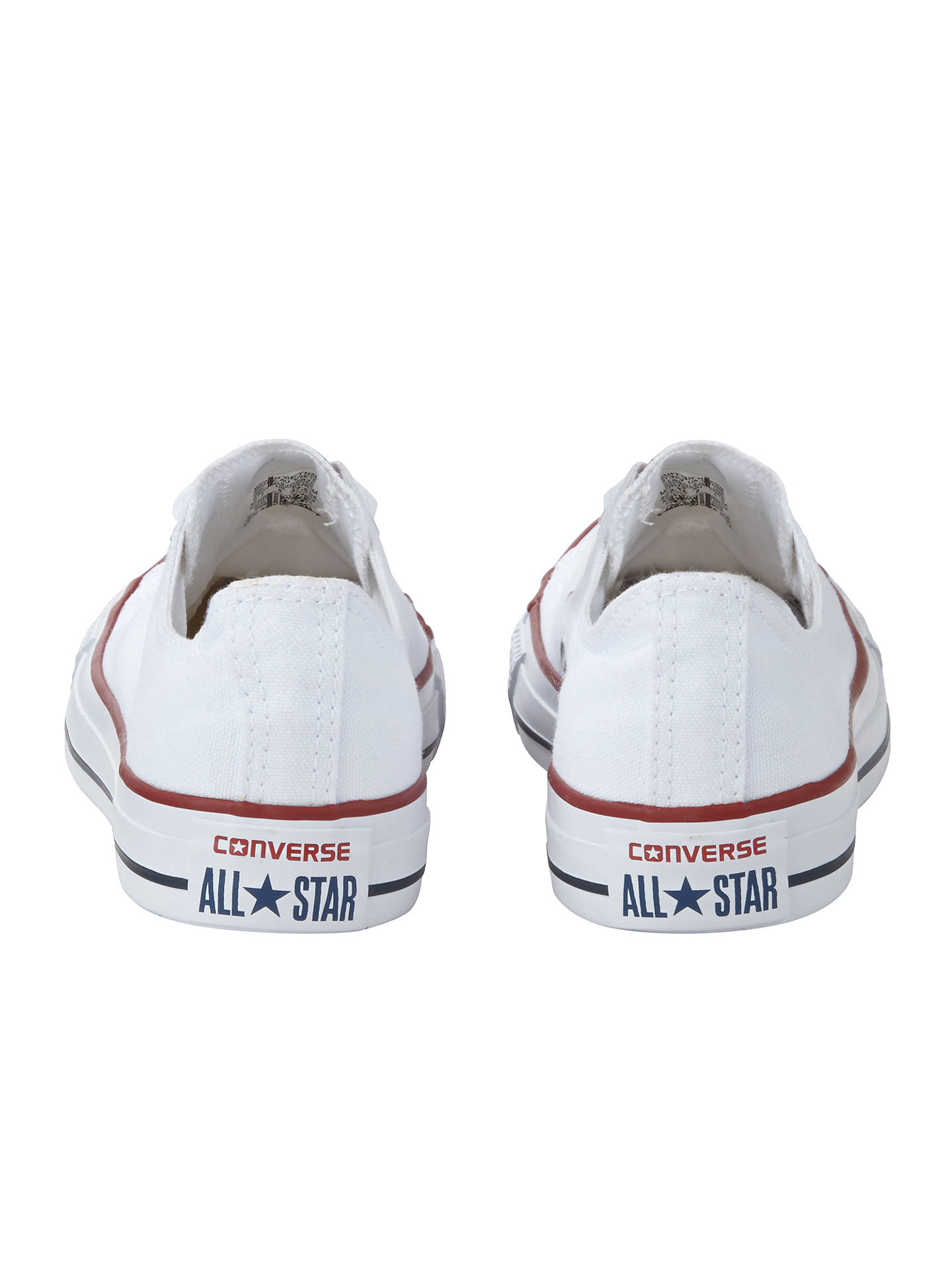 BuyConverse Chuck Taylor All Star Canvas Ox Low-Top Trainers, White, 4 Online at johnlewis.com