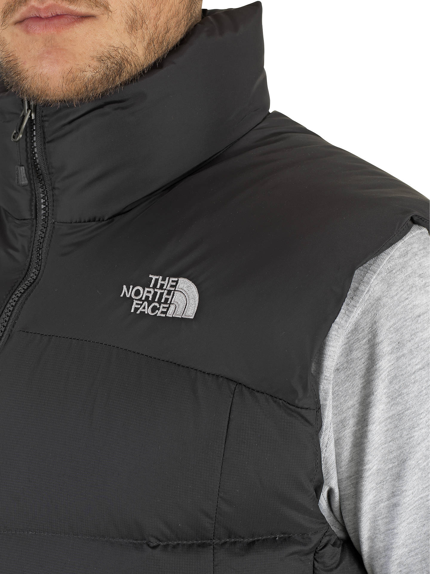 the north face nuptse down men s gilet black rh johnlewis com