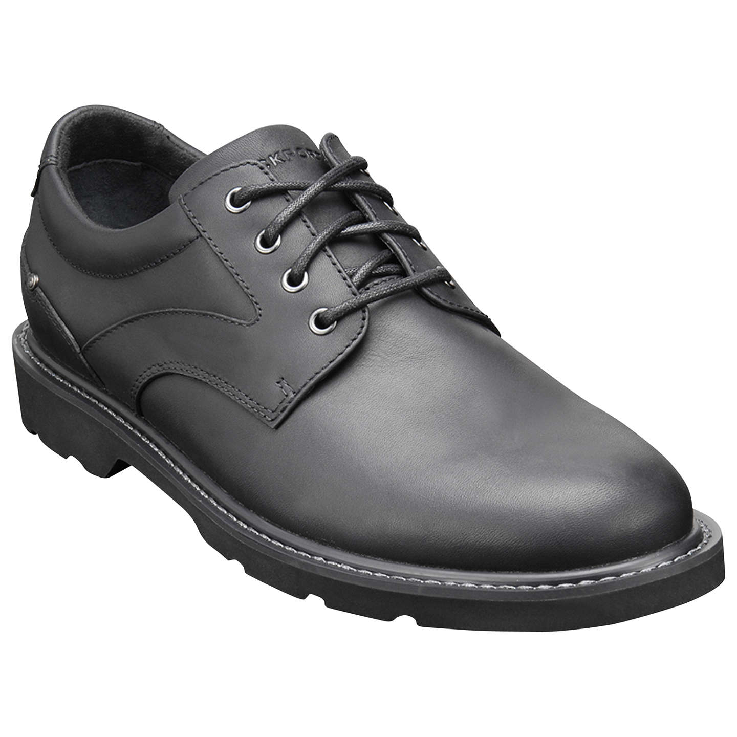 BuyRockport Charlesview Waterproof Leather Derby Shoes, Black, 7 Online at  johnlewis.com ...