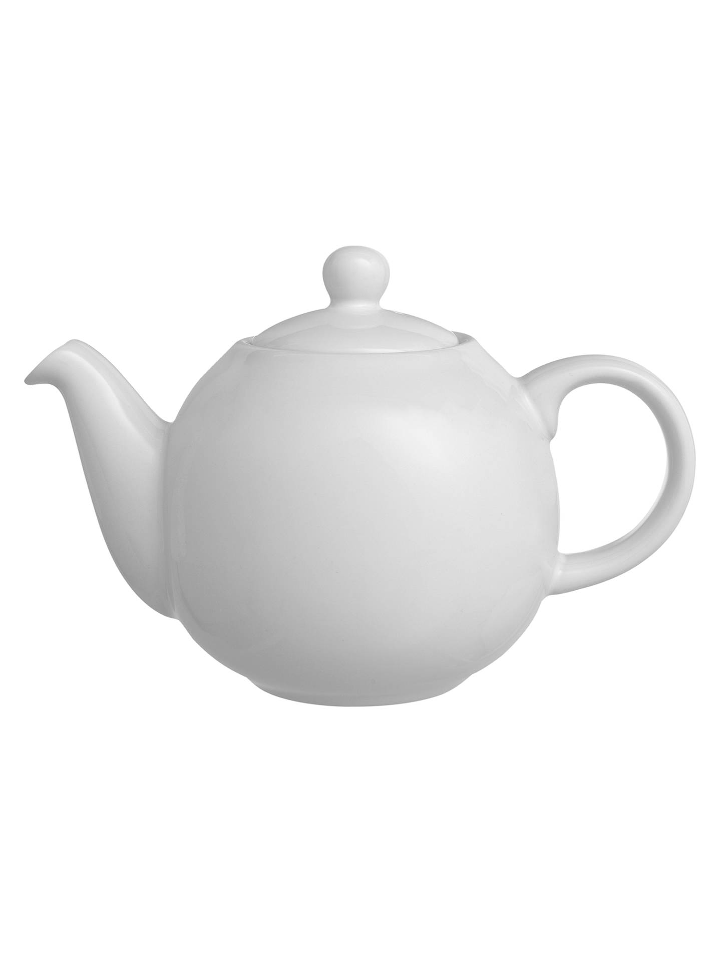 BuyLondon Pottery Globe 2 Cup Teapot, White, 500ml Online at johnlewis.com