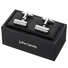 Buy John Lewis Laser Engraved Cufflinks Online at johnlewis.com