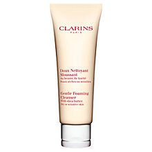 Buy Clarins Gentle Foaming Cleanser - For Dry/Sensitive Skin, 125ml Online at johnlewis.com