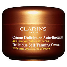 Buy Clarins Delicious Self Tanning Cream Online at johnlewis.com
