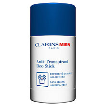 Buy ClarinsMen Anti-Perspirant Deo Stick, 75g Online at johnlewis.com