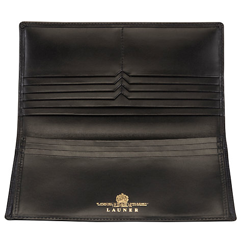 Buy Launer Made in England Calf Leather Wallet, Black Online at johnlewis.com