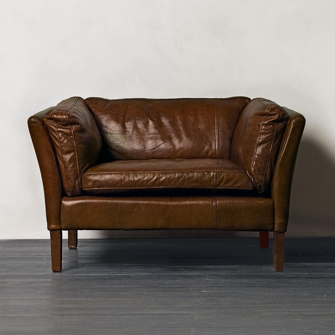 Buy Halo Groucho Aniline Leather Armchair