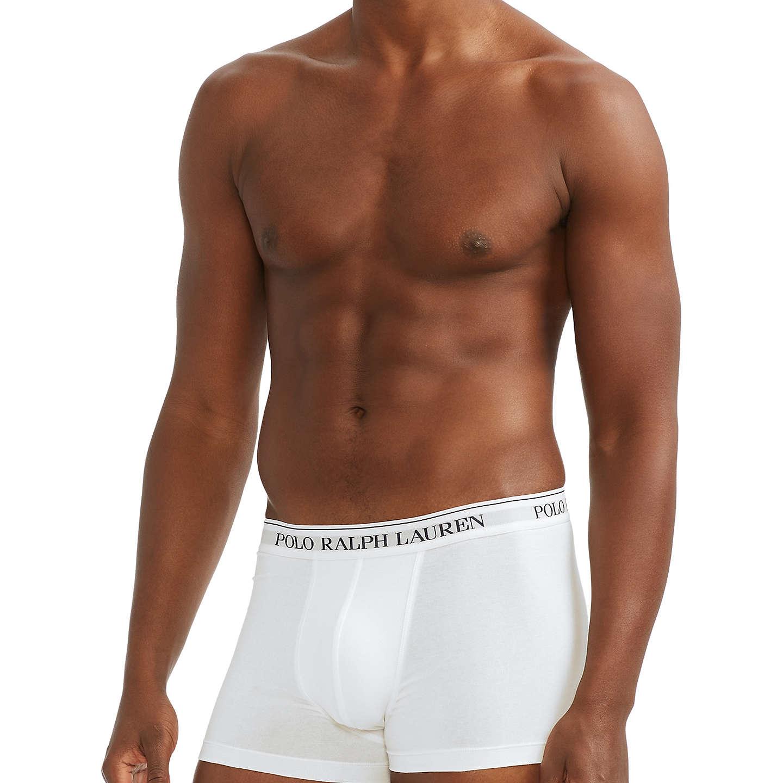Homepage � Men � Men\u0027s Underwear. BuyPolo Ralph Lauren Cotton Trunks, Pack  of 3, White, S Online at johnlewis