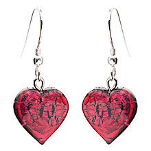 Buy Martick Sterling Silver Bohemian Glass Heart Drop Earrings Online at johnlewis.com