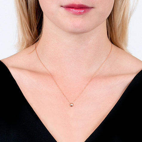 Buy London Road 9ct Rose Gold Diamond Slide Pendant Online at johnlewis.com