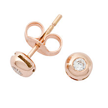 Buy London Road Rose Gold Diamond Stud Earrings Online at johnlewis.com