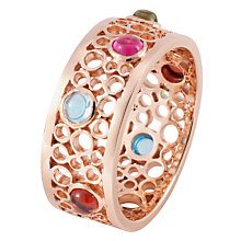 Buy London Road 9ct Rose Gold Ring, Rose Gold/Multi Online at johnlewis.com