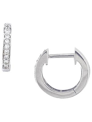 London Road 9ct Gold Diamond Demi-Hoop Earrings