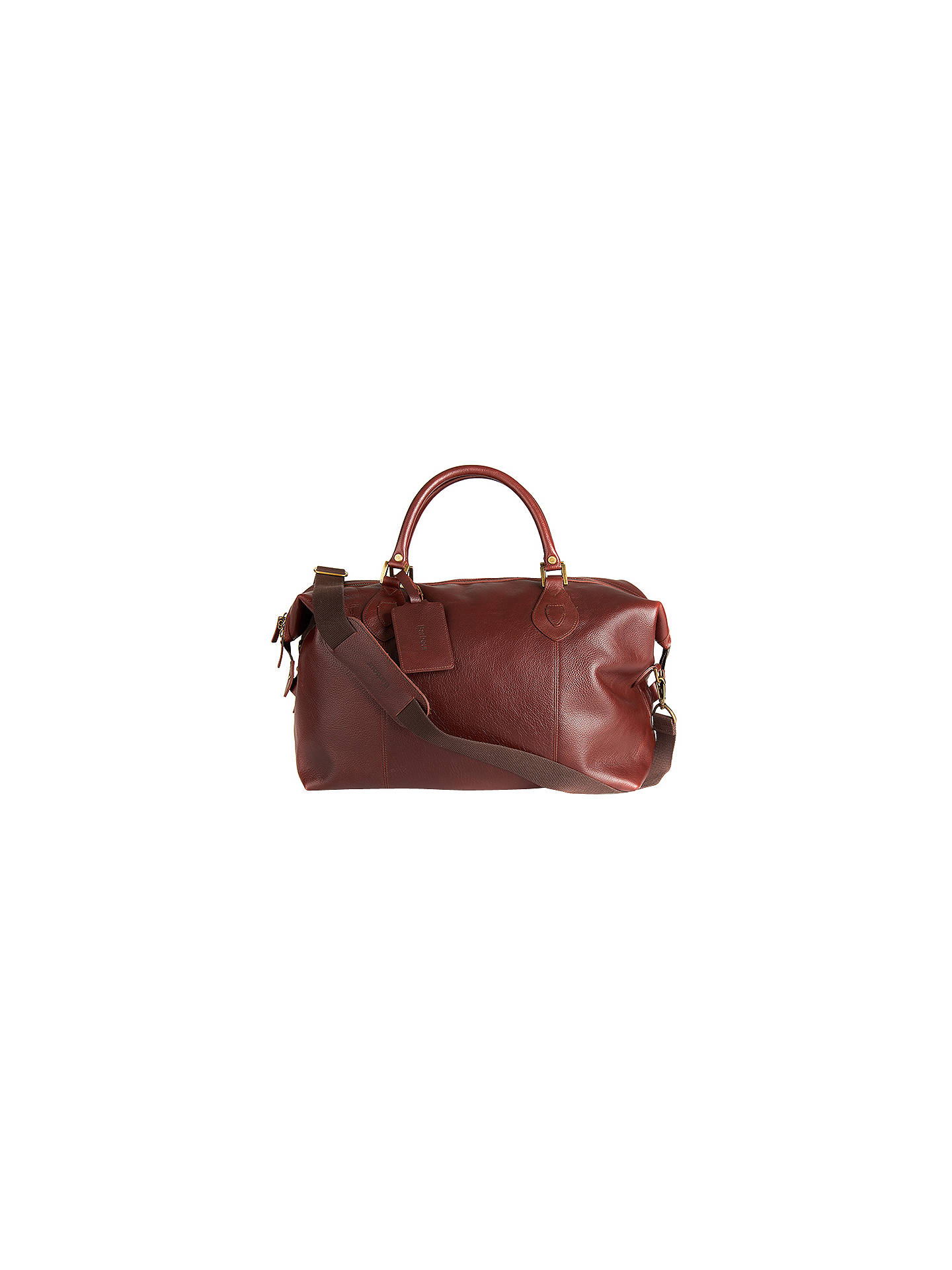 BuyBarbour Leather Explorer Bag, Brown Online at johnlewis.com