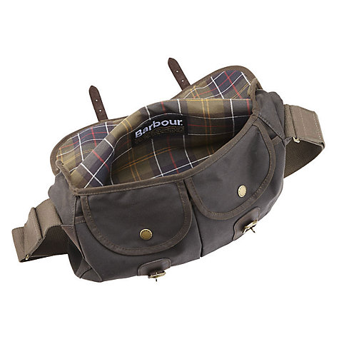 Buy Barbour Waxed Cotton Bag, Brown , One size Online at johnlewis.com
