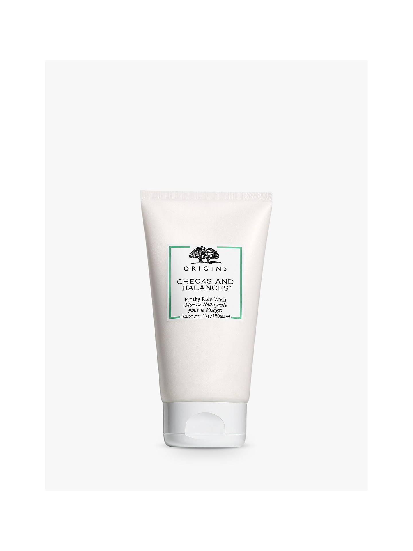 origins checks and balances face wash