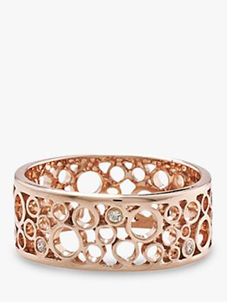 London Road 9ct Rose Gold Diamond Ring, Rose Gold