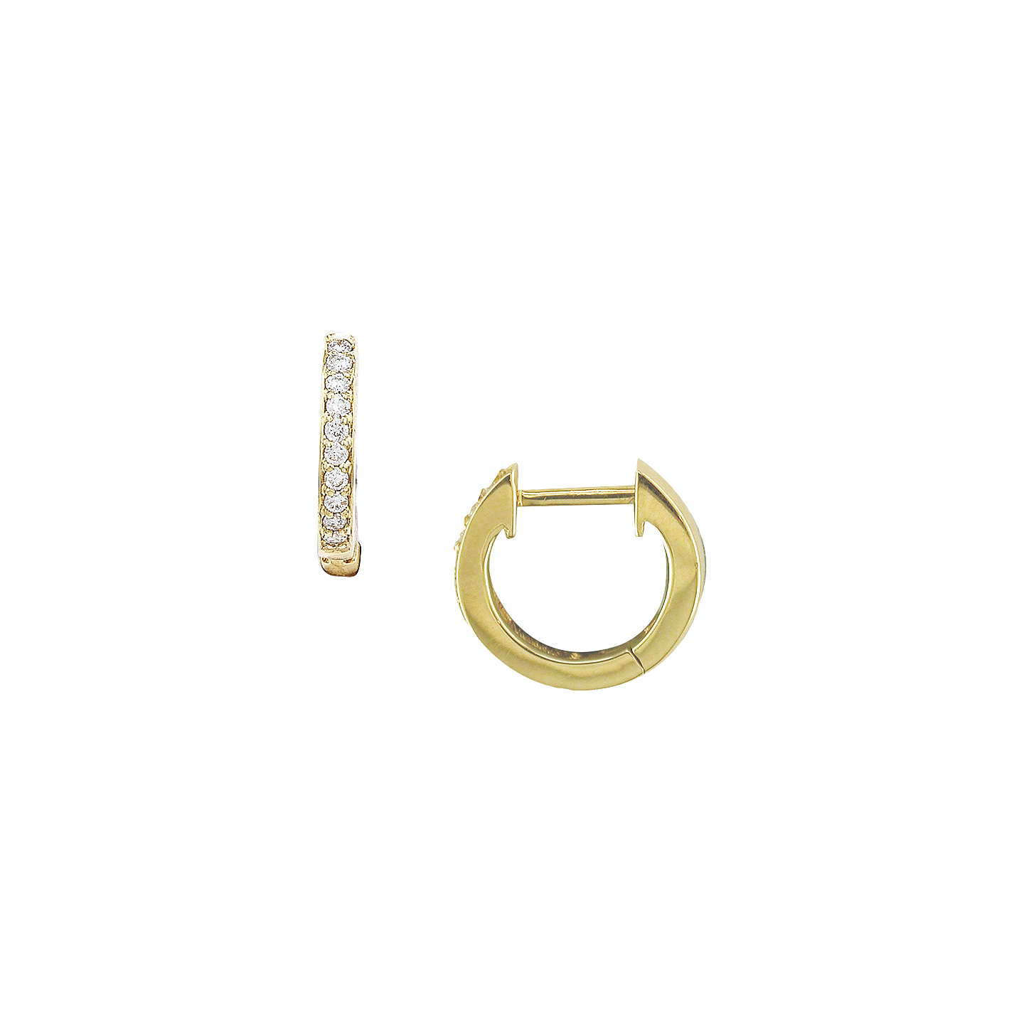 BuyLondon Road 9ct Gold Diamond Demi-Hoop Earrings, Yellow Gold Online at johnlewis.com