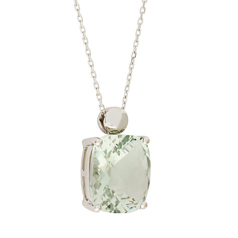 Buy London Road 9ct White Pendant Necklace, Green Amethyst Online at johnlewis.com