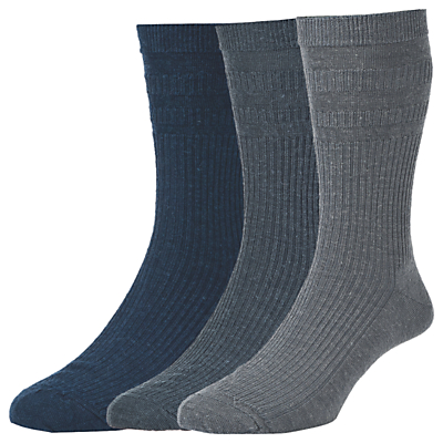 HJ Hall Wool Soft Top Socks, Pack of 3, One Size