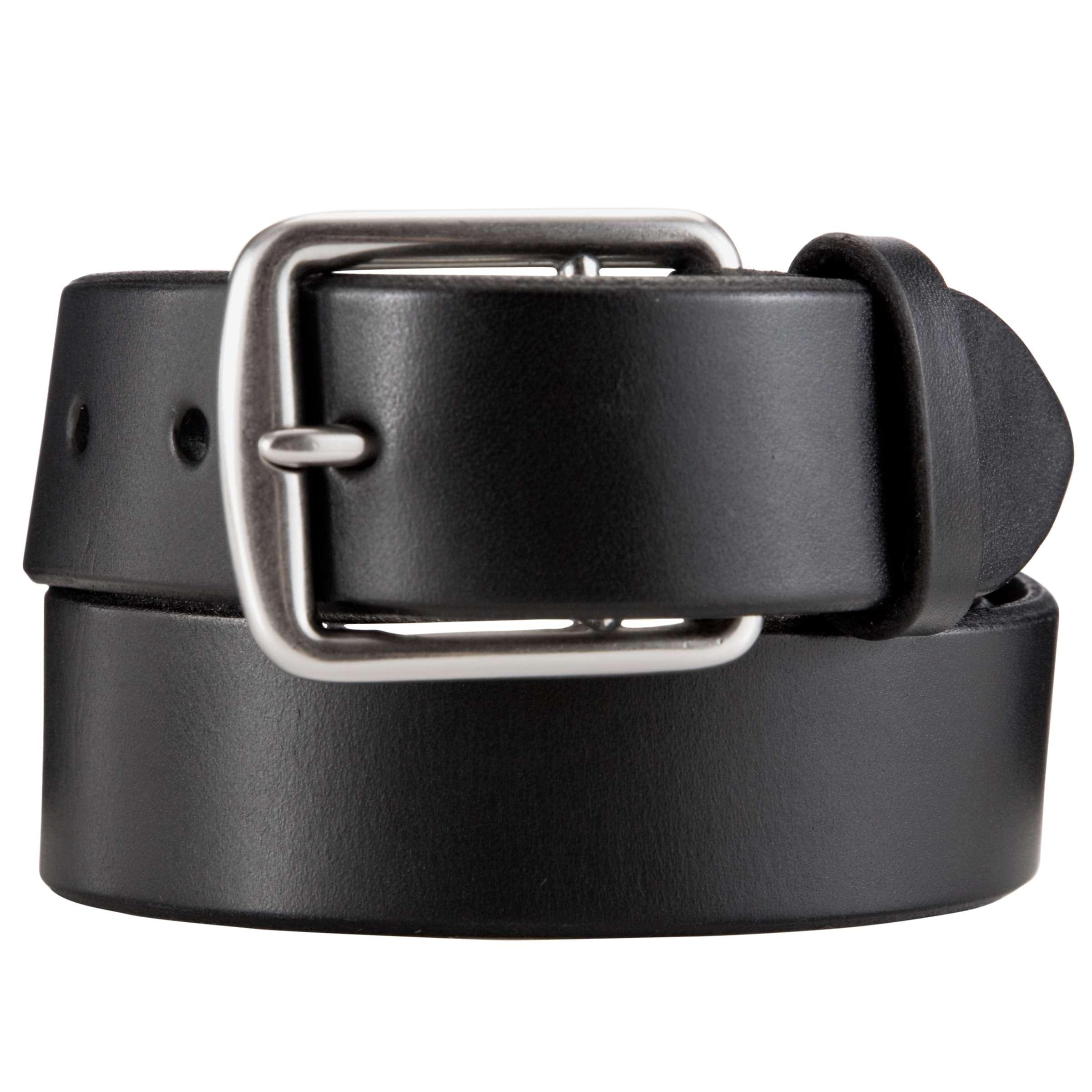 Polo Ralph Lauren Leather Belt, Black at John Lewis & Partners