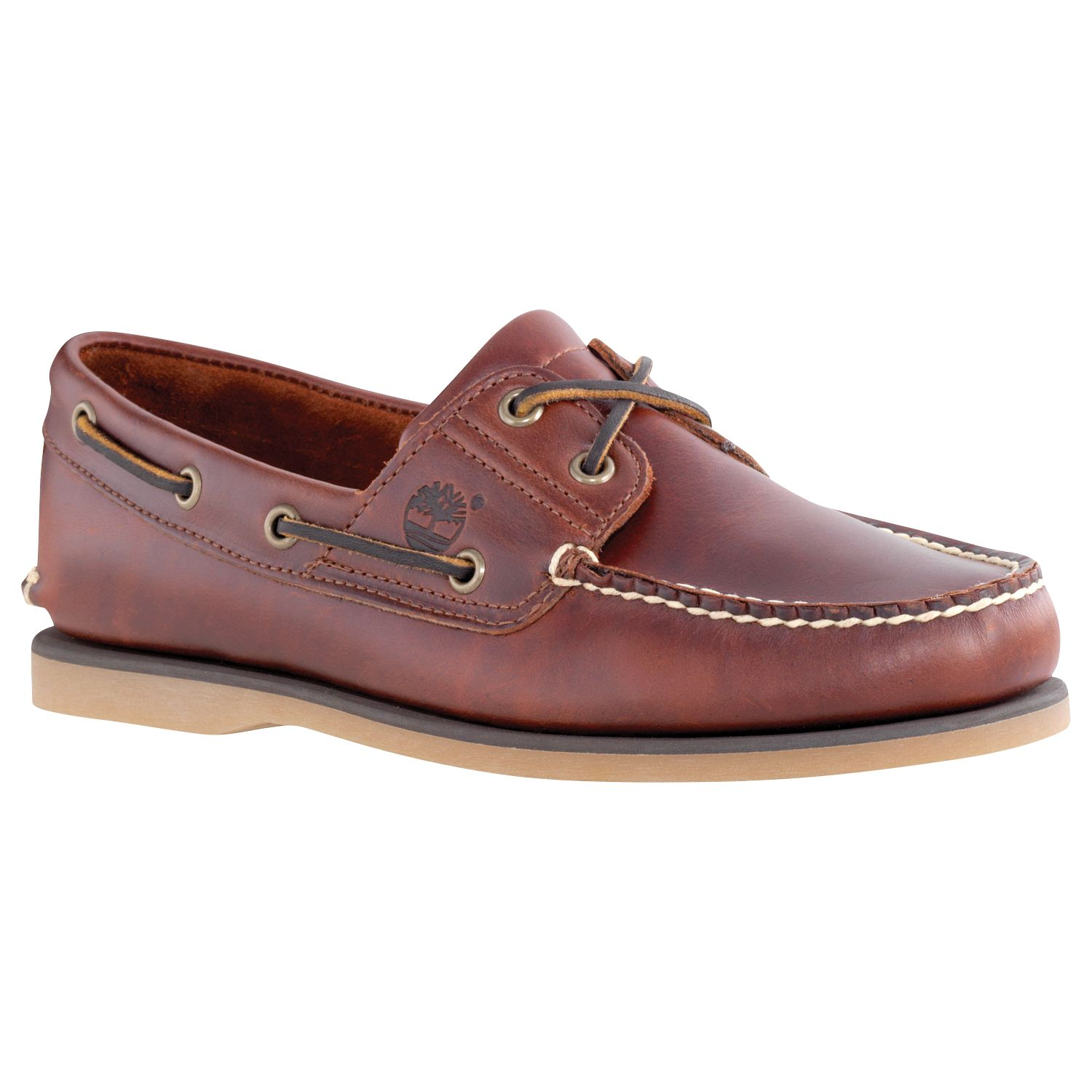 Timberland Timberland Leather Boat Shoes, Brown