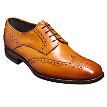 Buy Barker Toddington Leather Brogue Shoes, Tan Online at johnlewis.com