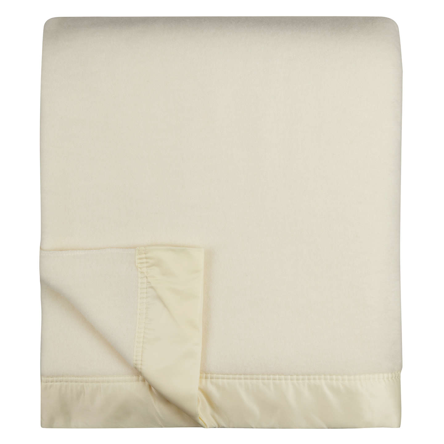 BuyJohn Atkinson by Hainsworth Empress Merino Wool Blanket, Winter White, 230 x 255cm Online at johnlewis.com